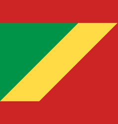 republic of the congo national current flag vector image
