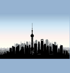 shanghai city skyline chinese urban landscape vector image vector image