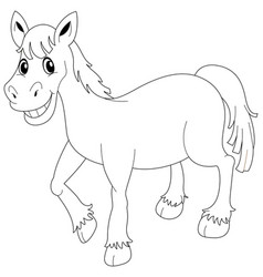 Doodle animal for pony vector