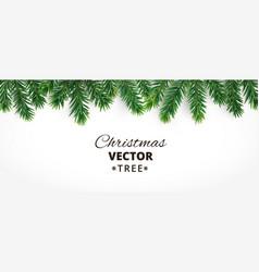 Horizontal banner with christmas tree vector