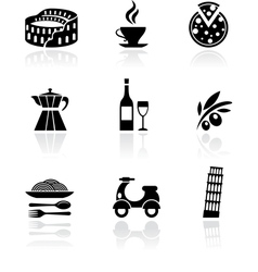 Italy icons - black vector image vector image