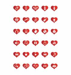 love web icons vector image