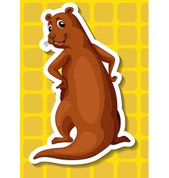 Otter vector image