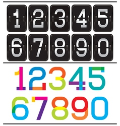 set of two sets of numbers for advertising and web vector image vector image