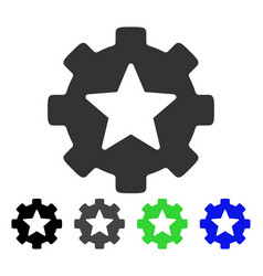 star favorites options gear flat icon vector image