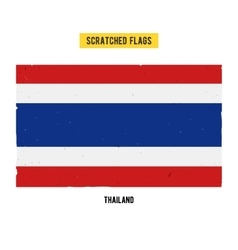 Thai grunge flag vector image