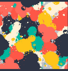 art brush splash seamless pattern vector image