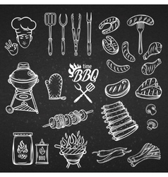 BBQ Feast Party Set vector image