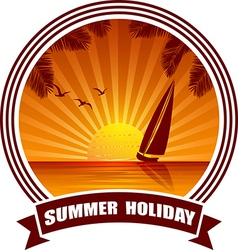 beach banner2 vector image