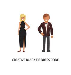 creative black tie dress code vector image
