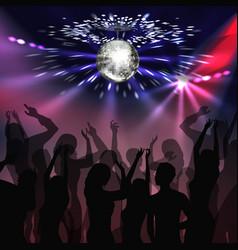 disco party dancefloor vector image vector image