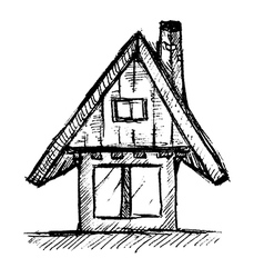 House Hand Drawn vector image vector image