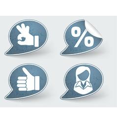 speech bubble stickers vector image vector image