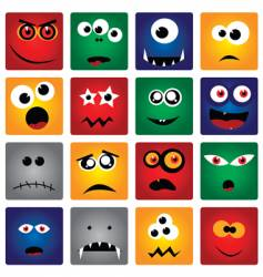 square monsters vector image vector image
