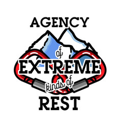 color vintage agency of extreme emblem vector image
