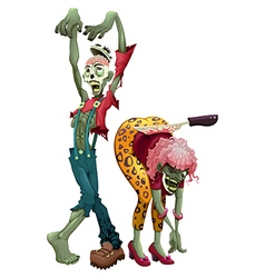 Funny couple of zombies vector image