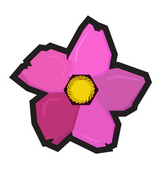isolated geometric flower vector image vector image