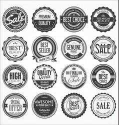 retro vintage design quality badges collection vector image