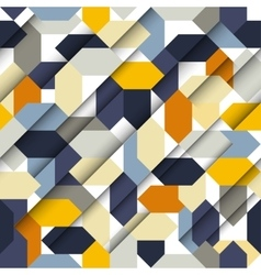 Seamless abstract paper geometric pattern vector image