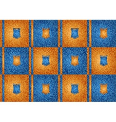 texture grain orange and blue vector image vector image
