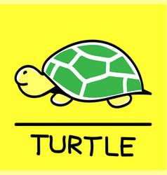 turtle hand-drawn style vector image vector image