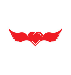 angel love icon vector image