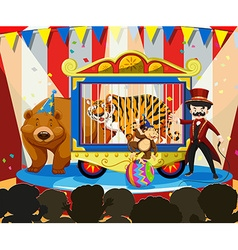 Animal show at the carnival vector image