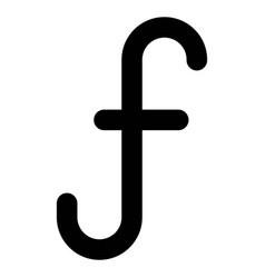 Aruban florin symbol icon currency aruba vector
