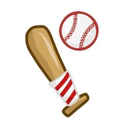 Baseball bat and ball vector image