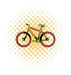 Bicycle icon comics style vector image
