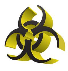 biohazard health medical warning 3d symbol vector image