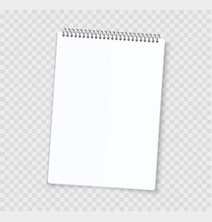 Blank notebook sheets realistic notepad with vector