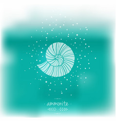 Blurred with ammonites vector