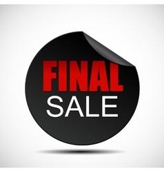 Circle Final Sale Label vector