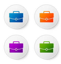 Color briefcase icon isolated on white background vector