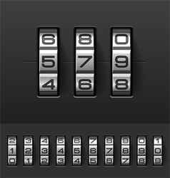 Combination code lock numbers vector image