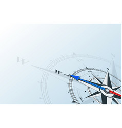 Compass west background vector