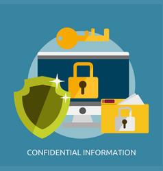 Confidential information conceptual design vector