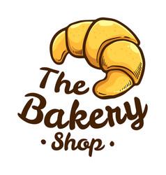 Croissant bakery shop icon logo vector