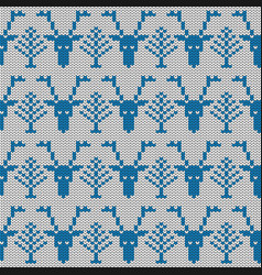 Deer imitation knitted fabric jacquard for vector