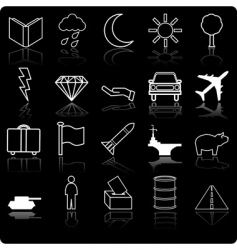 demographic icon set vector image