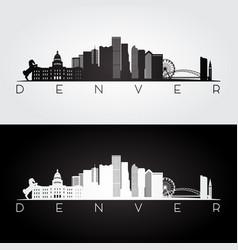 denver usa skyline vector image