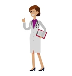 detailed doctor character woman vector image