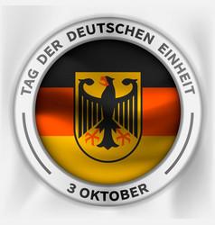 deutschen einheit concept background isometric vector image
