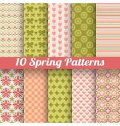 Different spring patterns Romantic chic texture vector