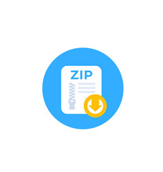Download zip file icon vector