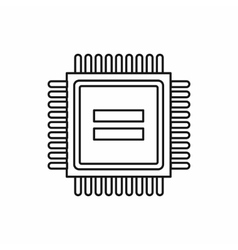 Electronic circuit board icon outline style vector