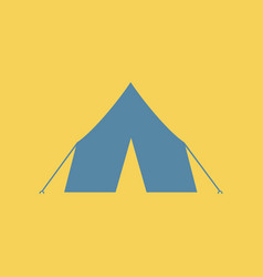 Flat icon camp tourist tent vector