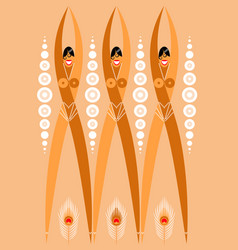 Girls flappers from the 1920s stylized vector