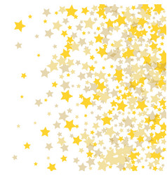 Golden scattered chaotically confetti-stars vector